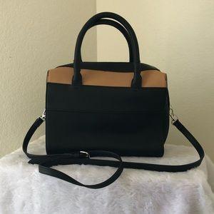 Danielle Nicole Black & Tan Convertible Bag